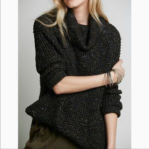 Free People Dylan Tweedy Turtleneck Sweater